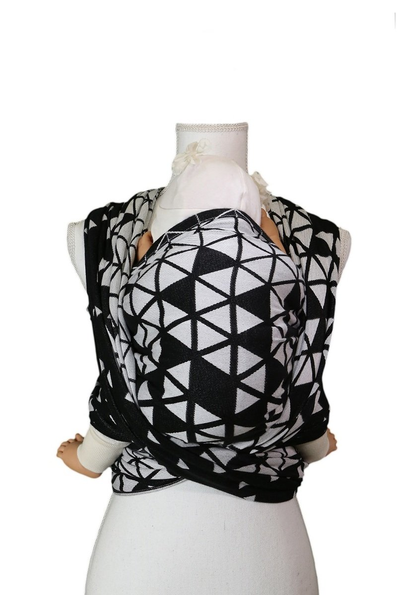 Baby Wrap - Be Lenka Triangle - Black and White
