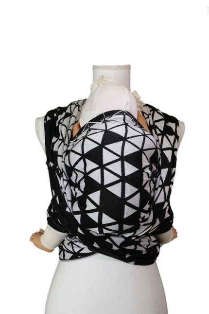 Rebozo - Be Lenka Triangle - Black and White