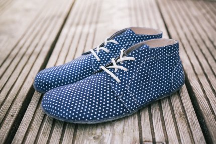 Barefoot shoes - Be Lenka All-year - Blue with White dots