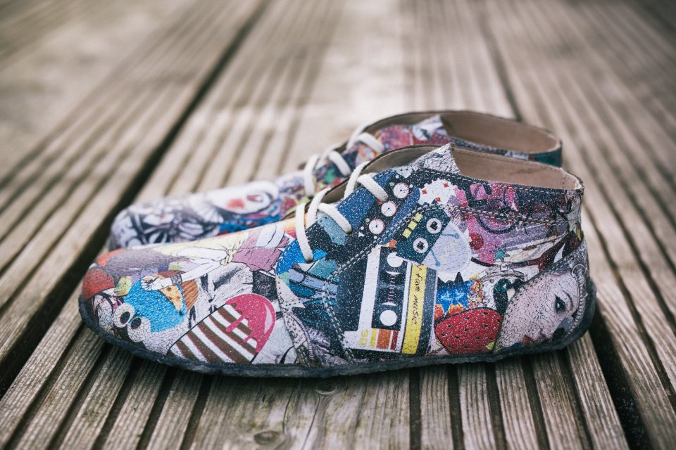 Barefoot Shoes - Be Lenka All-year - Crushed Comics - Colour