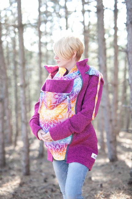 Baby Wearing Pink Sweater - Be Lenka Mandala - Rainbow
