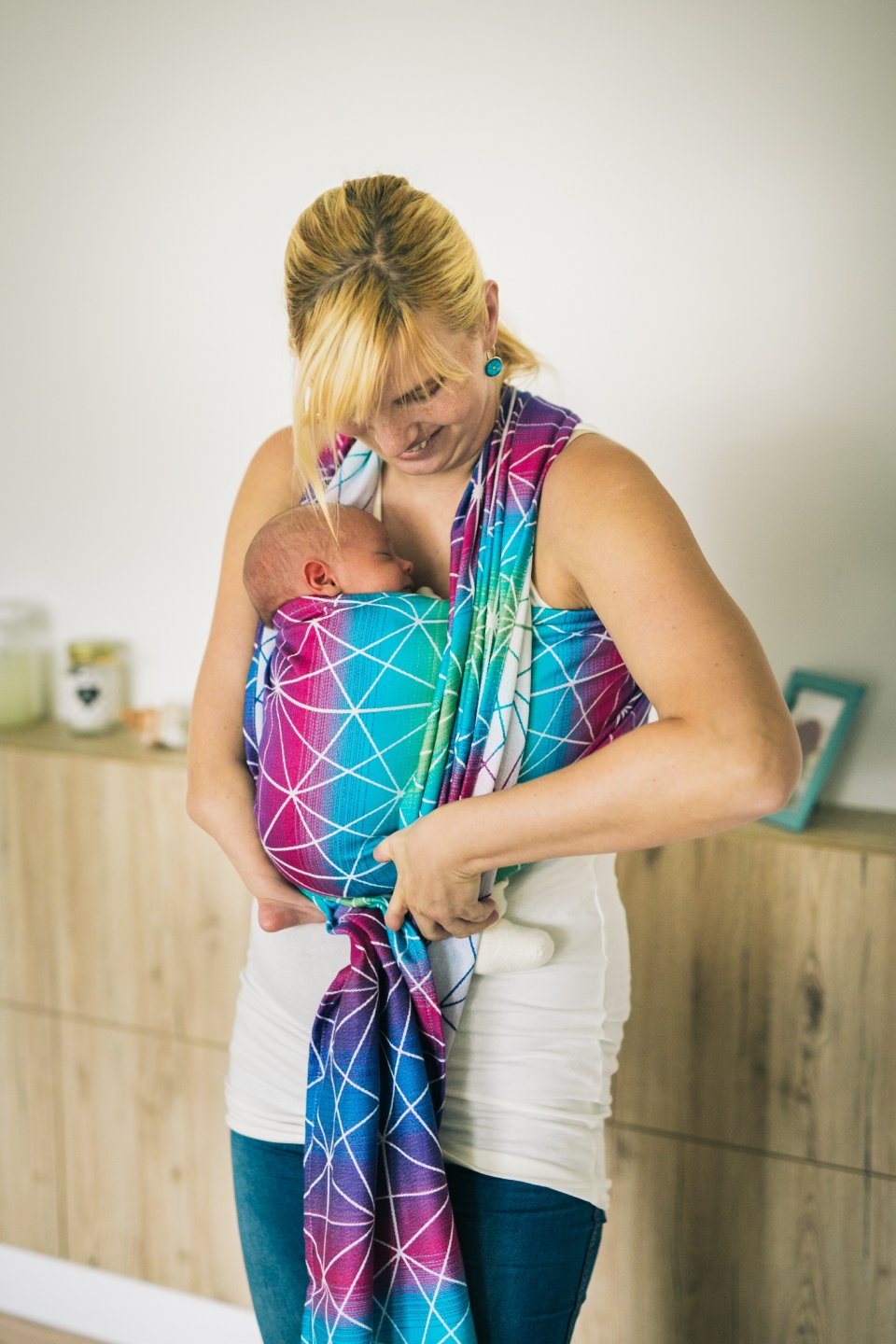 Baby Wrap - Be Lenka Spiderweb - Galaxy