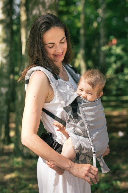 Baby carrier - Be Lenka 4ever Classic - Grey - Summer version