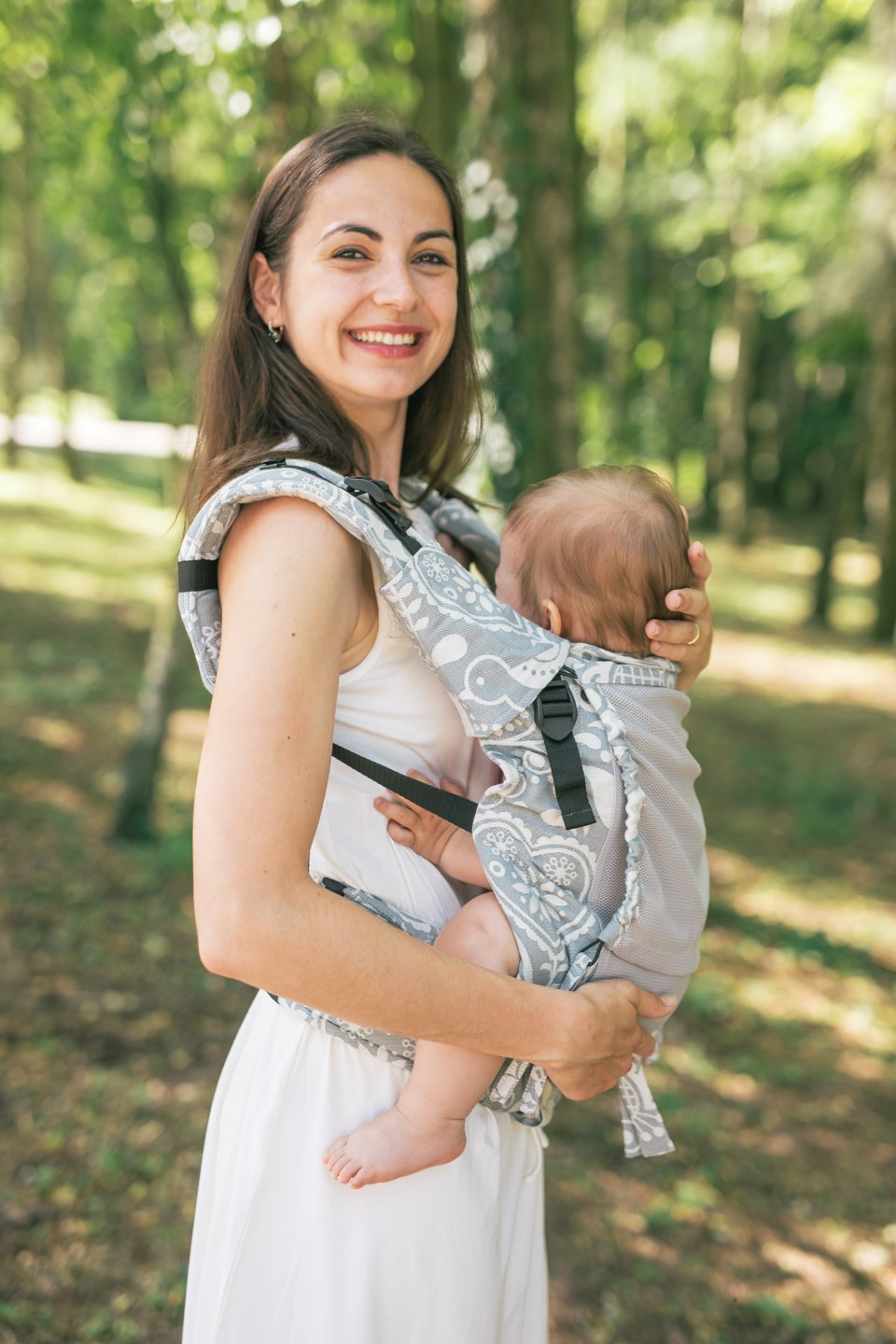 Baby carrier - Be Lenka 4ever Folk - Grey - Summer version
