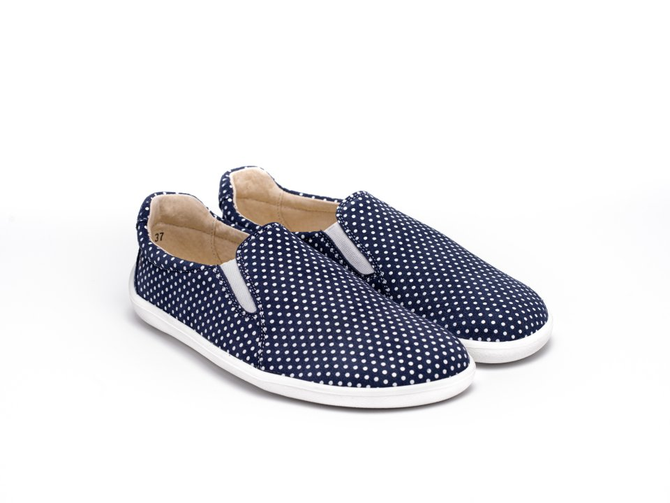 Barefoot Sneakers - Be Lenka Eazy - Dark Blue with Dots