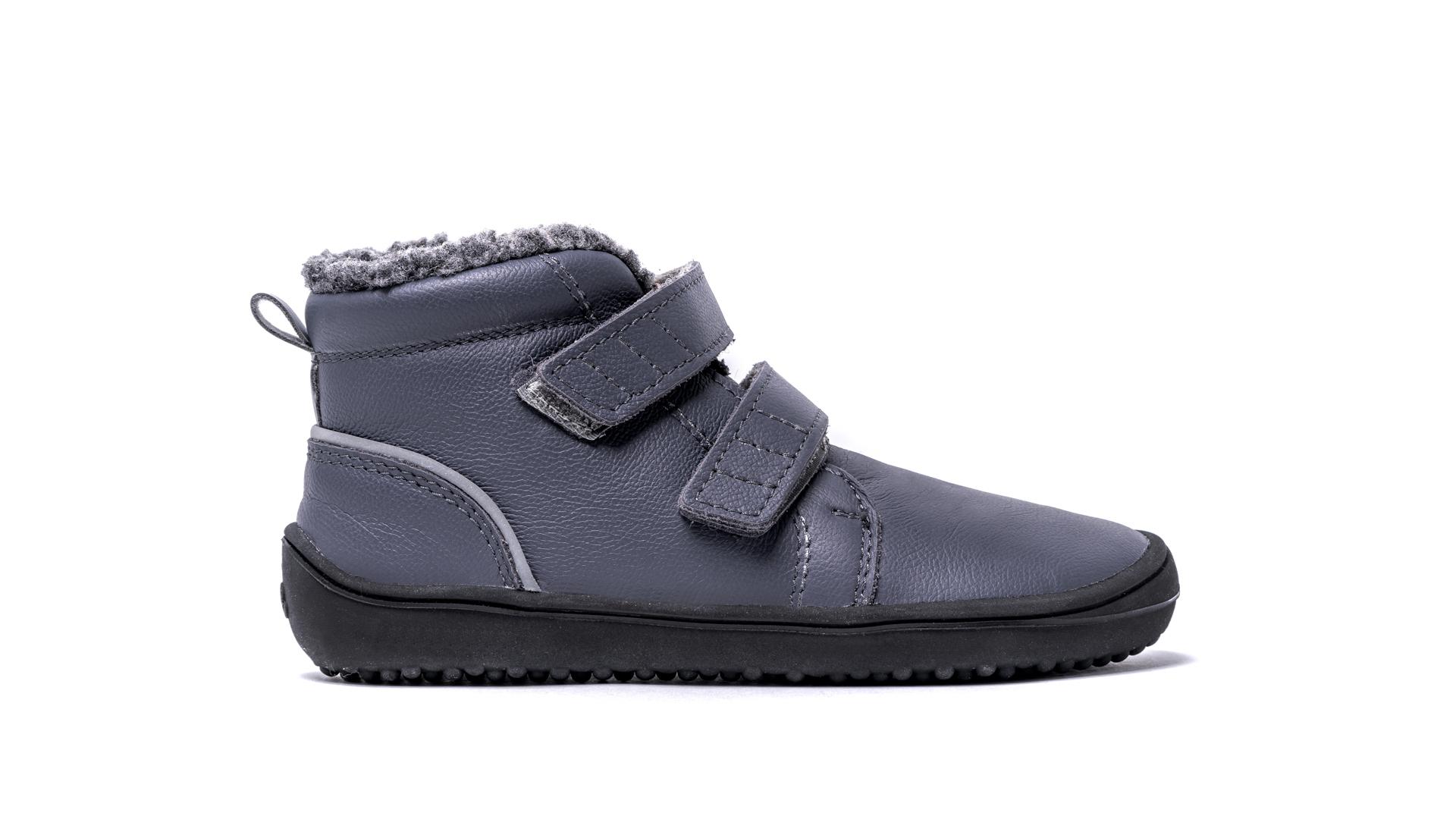 Be Lenka Kids Winter barefoot - Penguin - Charcoal 32